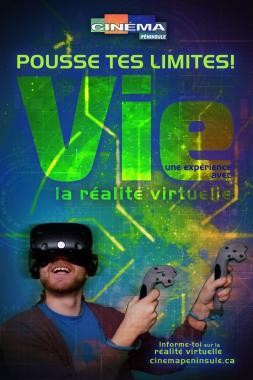 Pousse tes limites avec la réalité virtuelle au Cinéma Péninsule